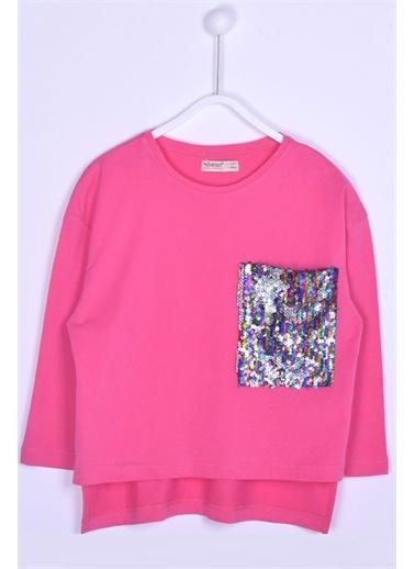 Silversun Kids Uzun Kollu T-Shirt Örme Uzun Kollu Payet Detaylı Tişört Kız Çocuk Bk 312831 Pembe